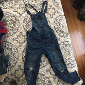 indigo blue maternity overalls